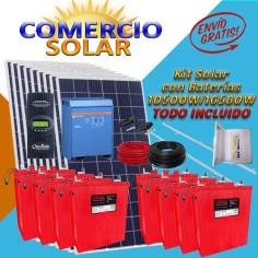 Kit solar con baterias...