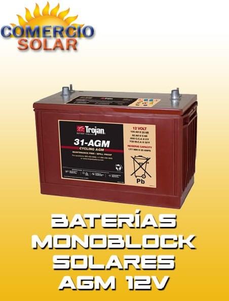Baterías Monoblock Solares AGM 12V
