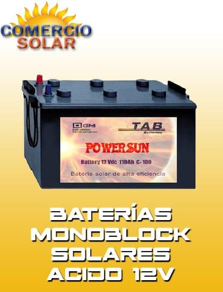 Baterías Monoblock Solares ACIDO 12V