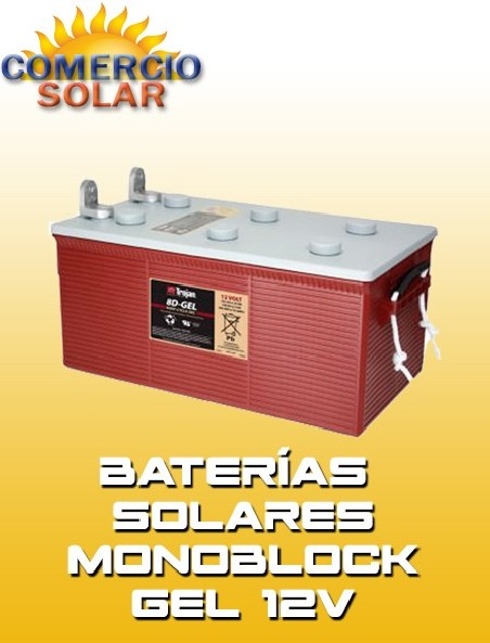Baterías solares monoblock GEL 12V