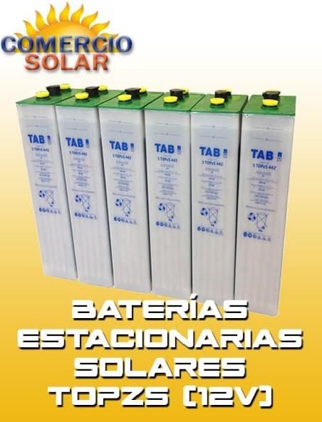 Baterías Estacionarias Solares TOPZS 12V