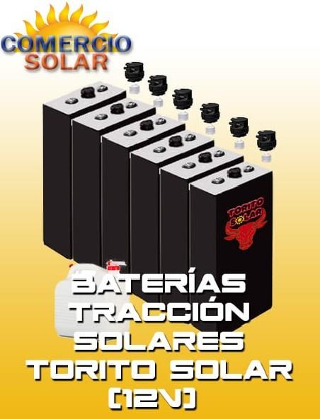 Baterías Tracción Solares Torito solar 12V